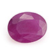 John Saul oval shape faceted ruby gemstone.