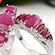 John Saul set of two ruby rings for women.