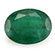 Kagem Zambian emerald oval shape gemstone.