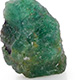 Kagem Zambian emerald rough cut gemstone.