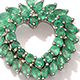 Kagem Zambian emerald heart pendant with chain.
