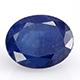 Kanchanaburi blue sapphire oval shape faceted gemstone.