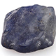 Kanchanaburi blue sapphire rough cut gemstone.