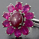 Floral ring with Kenyan star ruby.