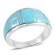 Kingman turquoise ring.