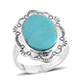 Artisan crafted Kingman turquoise ring.