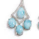 Larimar earrings.