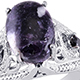 Lepidolite ring ion sterling silver.