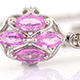 Madagascar pink sapphire pendant with chain in sterling silver.