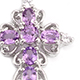 Madagascar purple sapphire cross pendant with chain.