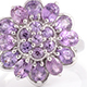 Madagascar purple sapphire floral cluster ring for women.