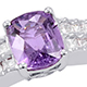 Madagascar purple sapphire designer ring for women.