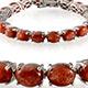 Madras sunstone tennis bracelet for women in sterling silver.