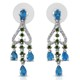 Madagascar neon apatite earrings.