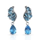 Marambaia topaz earrings in sterling silver.