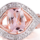 Marropino morganite ring for women.