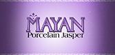 Mayan porcelain jasper stone logo.