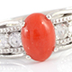 Attractive Mediterranean coral ring at Shop LC.