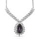 Mercury mystic topaz designer necklace with chain.