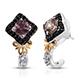 Merelani color change garnet earrings.