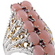 Mexican pink opal ring for women.