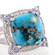 Blue mojave turquoise ring at Shop LC.