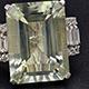 Montezuma prasiolite ring in sterling silver.