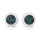 Mosaic opal stud earrings.