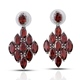 Mozambique garnet cluster earrings.
