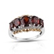 Mozambique garnet five stone ring.