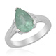 Mozambique Paraiba tourmaline pear shape solitaire ring.