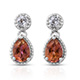 Mystic twilight topaz earrings.