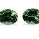 Natural green apatite pearl shape two stones.