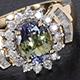 Natural Green Tanzanite Jewelry