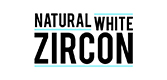 Natural white zircon logo.