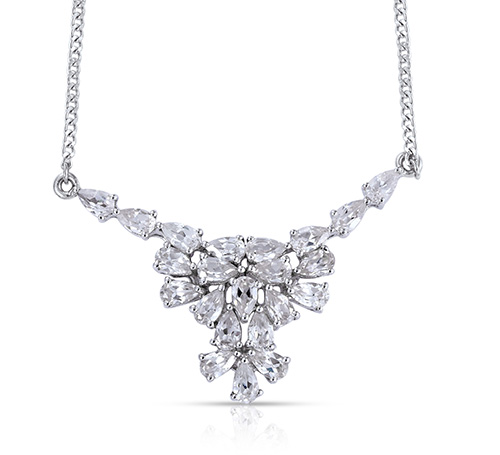 Shop Natural White Zircon Necklaces & Pendants.