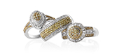Natural Yellow Diamond Ring set