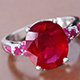 Attractive niassa ruby ring at Shop LC.
