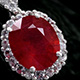 Elegant niassa ruby pendant at Shop LC.