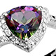 Heart shaped northern lights mystic topaz ring.