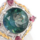 Designer northern lights mystic topaz ring.