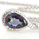 Northern lights mystic topaz pendant with a chain at Shop LC.