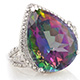 Northern lights mystic topaz ring at Shop LC.