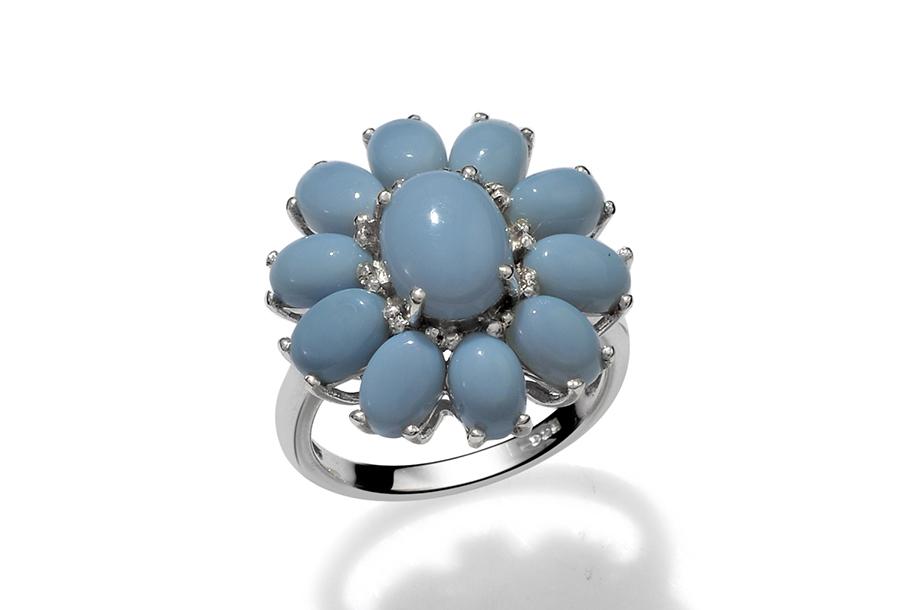 Oregon Blue Opal Ring