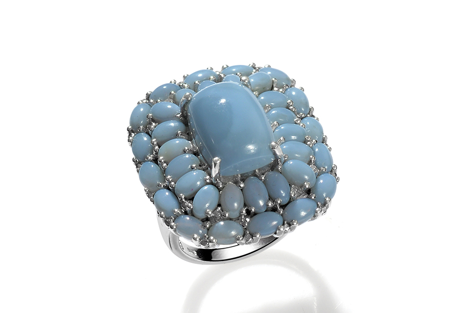 Oregon Blue Opal Cer Ring