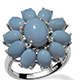 Mexican Oregon Blue Opal  Jewelry