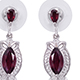 Find designer rhodolite garnet earrings at Shop LC.