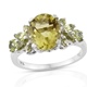 Ouro Verde Quartz ring in sterling silver.