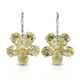 Ouro Verde Quartz floral earrings.