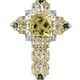 Ouro Verde Quartz cross pendant with chain.